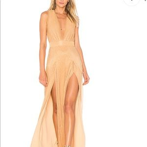 Lovers and friends size 0 gold gown